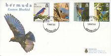 Bermuda 2014 FDC Eastern Bluebird 4v Set Cover Birds Fauna