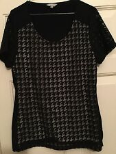 marks and spencer per una black evening top size 14
