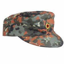WW2 GERMAN ARMY FLECKTARN CAMO MILITARY CAMOUFLAGE FIELD CAP HAT
