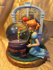 Disney * PETER PAN TINKER BELL WENDY MUSICAL BLOWER SNOW GLOBE * I CAN FLY SONG