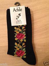 Chaussettes femme Marque Achile  coton élasthanne  Taille 35/41 GIPSY NOIR