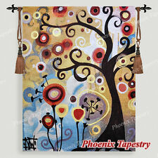 """SMALL June Tree Fine Art Tapestry Wall Hanging, Tree of Life, 35""""x27"""", US"""