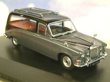 OXFORD DIECAST 1/43 DAIMLER DS420 FUNERAL HEARSE IN BLACK & CARLTON GREY DS008