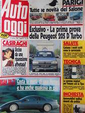Auto OGGI n°202 1990 Peugeot 205 D Turbo - Ford Sierra 2.0 4x4 Nissan 300 [Q201]
