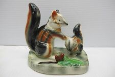 Vintage~Two Squirrels Porcelain Statue Collectible~Occupied Japan???~Not Marked
