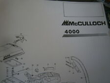 Mc Culloch tronçonneuse 4000 : Parts catalog