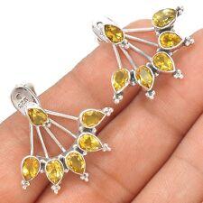 Citrine 925 Sterling Silver Earrings Jewelry SE127421