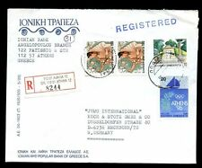 Greece 1990 Registered Cover To Germany #C6954