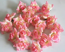 10pc pink+beige Silk Flower Rose Wedding Birthday Party Home Table Decoration K