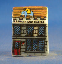 Birchcroft Miniature House Shaped Thimble -- Elephant and Castle Pub