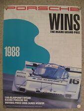 1988 Porsche 962 Miami Grand Prix Victory Showroom Advertising Poster RARE! L@@K