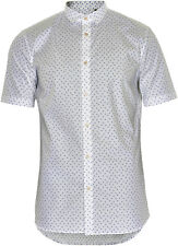 Matinique Triangle Print Short Sleeve Shirt/White - Large - WAS £54.95