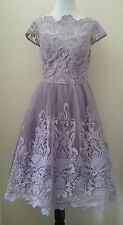 Modcloth $175 Exquisite Elegance Lace Dress in Lavender (Fits M) Chi Chi London