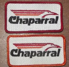 VINTAGE CHAPARRAL SNOWMOBILES EMBROIDERED PATCHES