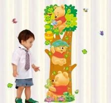 Cartoon Winnie the Pooh Animal Measurement of height DIY Wall Stickers Kids 2015