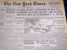1944 APRIL 21 NEW YORK TIMES - FRANCE HIT IN SURPRISE U. S. BLOW - NT 776