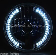 """7"""" LED White Halo Halogen Headlight Crystal Clear Bulb Fits: Harley Motorcycle"""