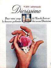 PUBLICITE DIOR CHRISTIAN DIOR DE 1968 FRENCH AD PUB VINTAGE COULEUR PERFUME