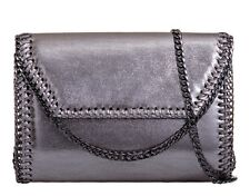 Ladies Metallic Envelope Clutch Bag Chain Edge Evening Bag Party Handbag KL907