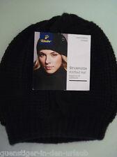 TCM Tchibo Damen Strickmütze Rippstrick Knitted Hat Wintermütze Mütze schwarz