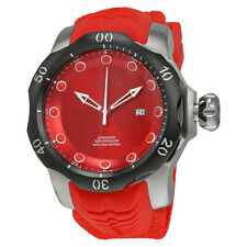 Invicta Venom Automatic Red Dial Red Silicone Strap Mens Watch 19302