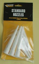 Pack of 6 replacement nozzles for sealant gun tubes new