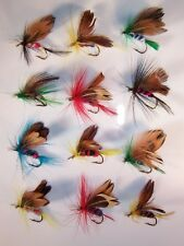 12pc ASSORTED HAND TIED BUTTERFLY - MOTH FLY FISHING FLIES TROUT HOOK 8-10 YINHE