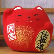 Maneki Neko Feng Shui Lucky red cat for prosperity