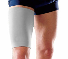 2 Grey Elasticated Thigh Hamstring Support Sleeve Protector Elastic Brace Gym UK