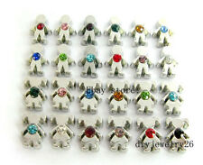 48pcs Birthstone Girl & Boy Floating Charms Fits for Glass Living Memory Locket