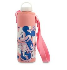 Disney Store Classic Minnie Mouse Water Bottle w/ Soft Cover 24oz Adult Kids NEW