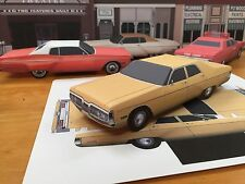 Papercraft 1972 Plymouth Fury Unmarked State Police EZU-build PaperToyModelCar