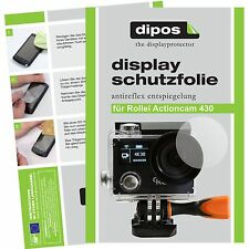 6x Rollei Actioncam 430 Schutzfolie matt Displayschutzfolie Folie dipos