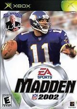 MADDEN 2002  (X BOX 2001) COMPLETE with manual