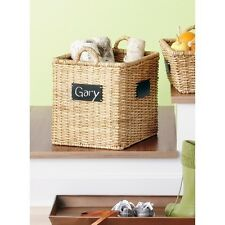 Square Decorative Basket with Chalkboard - Smith & Hawken
