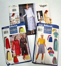 3 vintage ladies clothing patterns size 14-16-18, Vogue & Butterick VGC