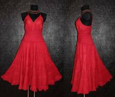 LONG RED GOTHIC DRESS Plus Size 18 20 Maxi Medieval Peasant Gypsy Empire Summer