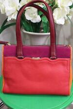 T Tahari OLIVIA double zip leather tote shoulder bag (p1200)