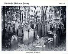 Alte jüdische Begräbnisstätten in Wien Historische Aufnahme von 1909