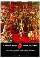 the Rolling Stones POSTER It's Only Rock N Roll *AMAZING COLORS* Album Promo Ad