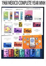 COMPLETE 1968 MEXICO Commemorative Year MNH (26 STPS+ 9 SS) Scott CV$163.00