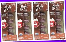16 REFILLS Glade PEPPERMINT MOCHA Mint Chocolate Scented Oil Candles (4 PACKS)