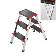Hailo L90 225 ChampionsLine 3 Tread Double Sided Step Ladder |Stool |Take 225 KG