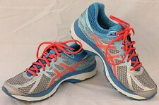 ASICS Size 8.5 Womens Gel-Cumulus Silver/Hot Pink/Turquoise T5D8N Shoes.