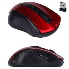 Mini 2.4G Adjustable 2000DPI USB Optical Wireless Mouse Mice For PC Laptop Red