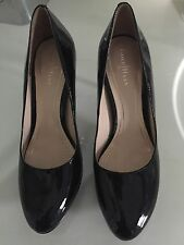 Cole Haan Nike Air Shoes High Heels Size 7.5 B Black Patent Leather