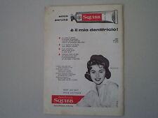 advertising Pubblicità 1957 DENTIFRICIO SQUIBB e SYLVA KOSCINA