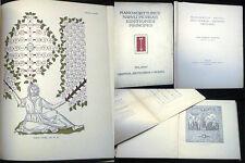 1929 ULRICO HOEPLI MANOSCRITTI INCUNABULI FIGURATI EDITIONES PRINCIPES ILLUSTRAT
