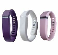 Wristbands for Fitbit Flex Tracker SMALL Purple Grape, White, Orchid Band Clasps