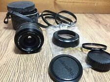 Minolta MD W.Rokkor 35mm 1:2.8 SLR Lens 55 + Hood, Case & Caps. Vintage Japan